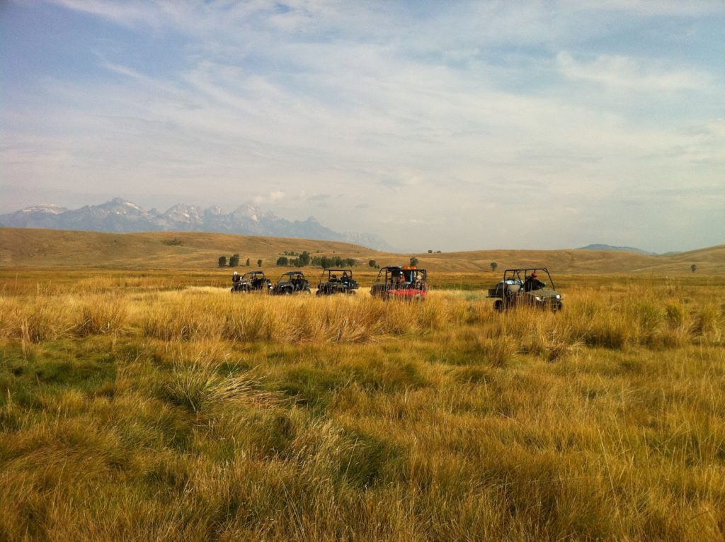 JHWMA Cheatgrass Mitigation Project - Razr's with Spray Gear out in Field image