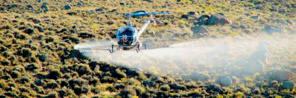 Aerial application takes minutes, while manual application can take weeks.