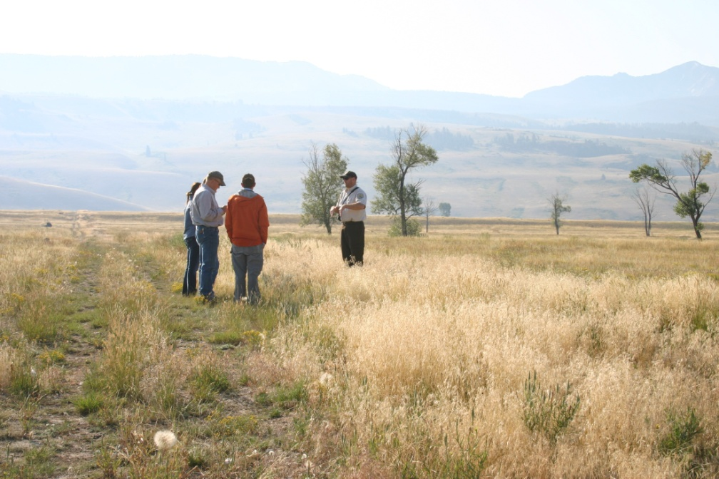 JHWMA Cheatgrass Mitigation Project - Group Standing in Field image