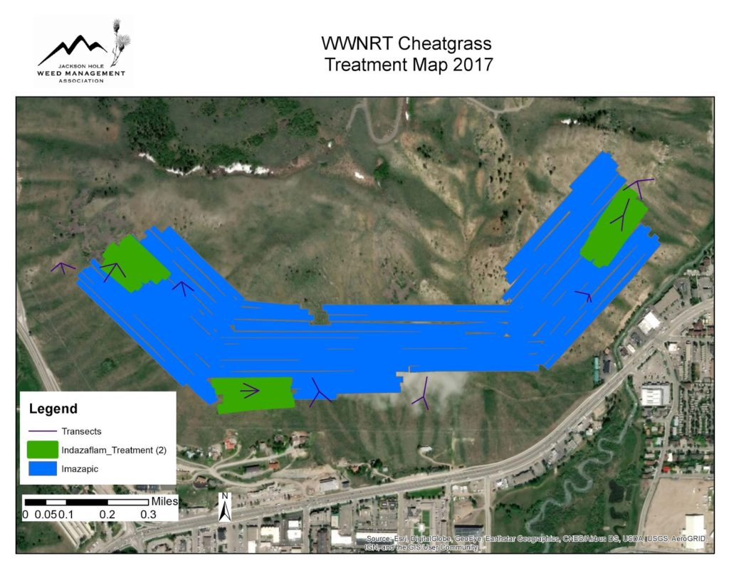JHWMA Cheatgrass Mitigation Project -WWNRT Cheatgrass Treatment Map