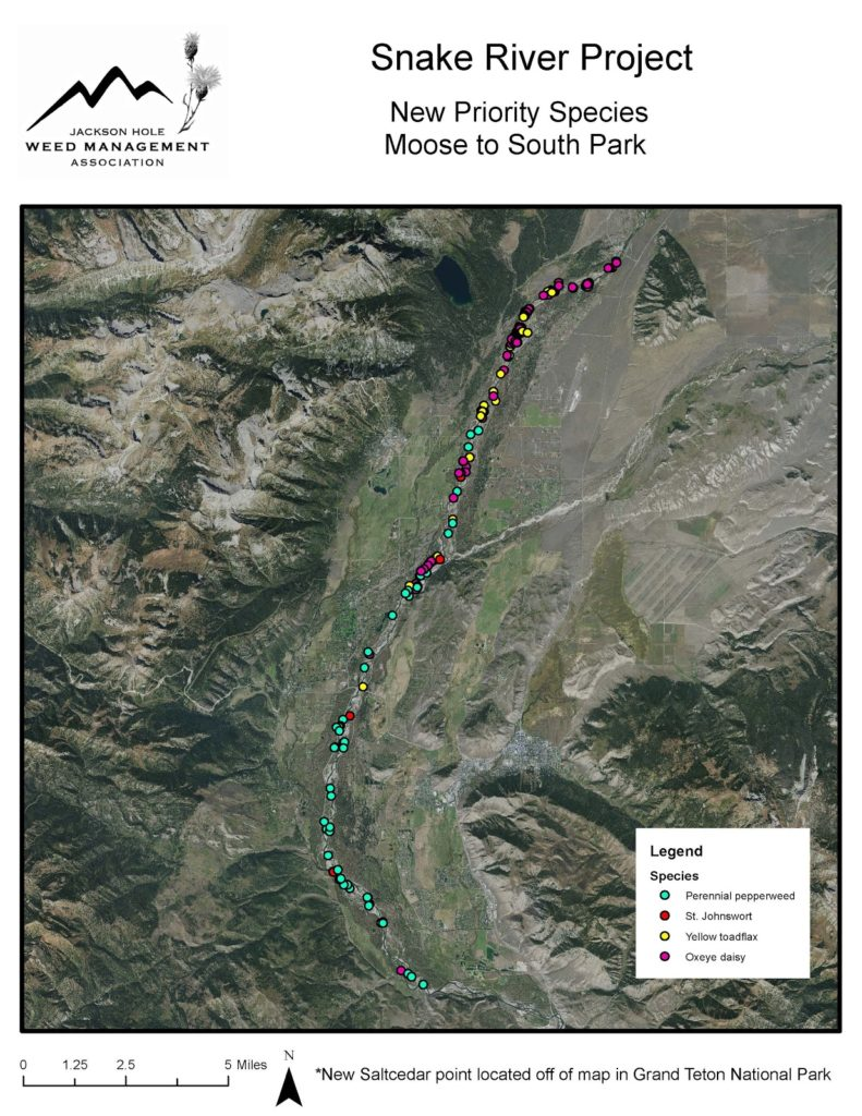 Snake River Project - Priority Species Image map